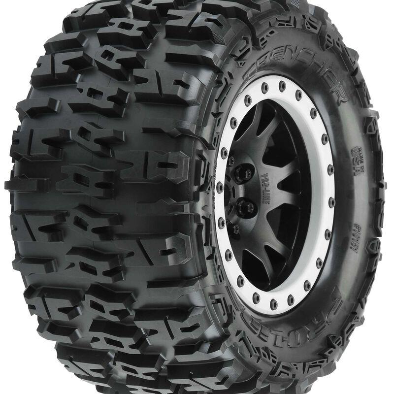 """Trencher 4.3"""" X-MAXX MTD Impulse Front Rear Tire, Black/Gray"""
