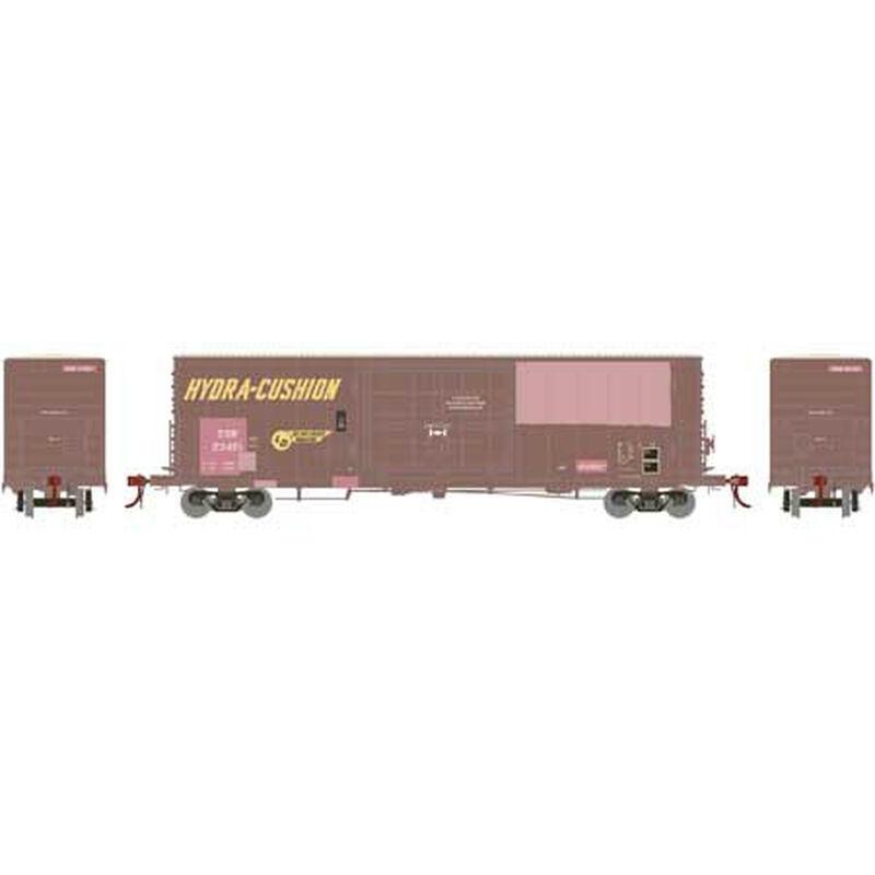 HO 50' PC&F SS Box w 14' Plug Door SSW Patch#23491