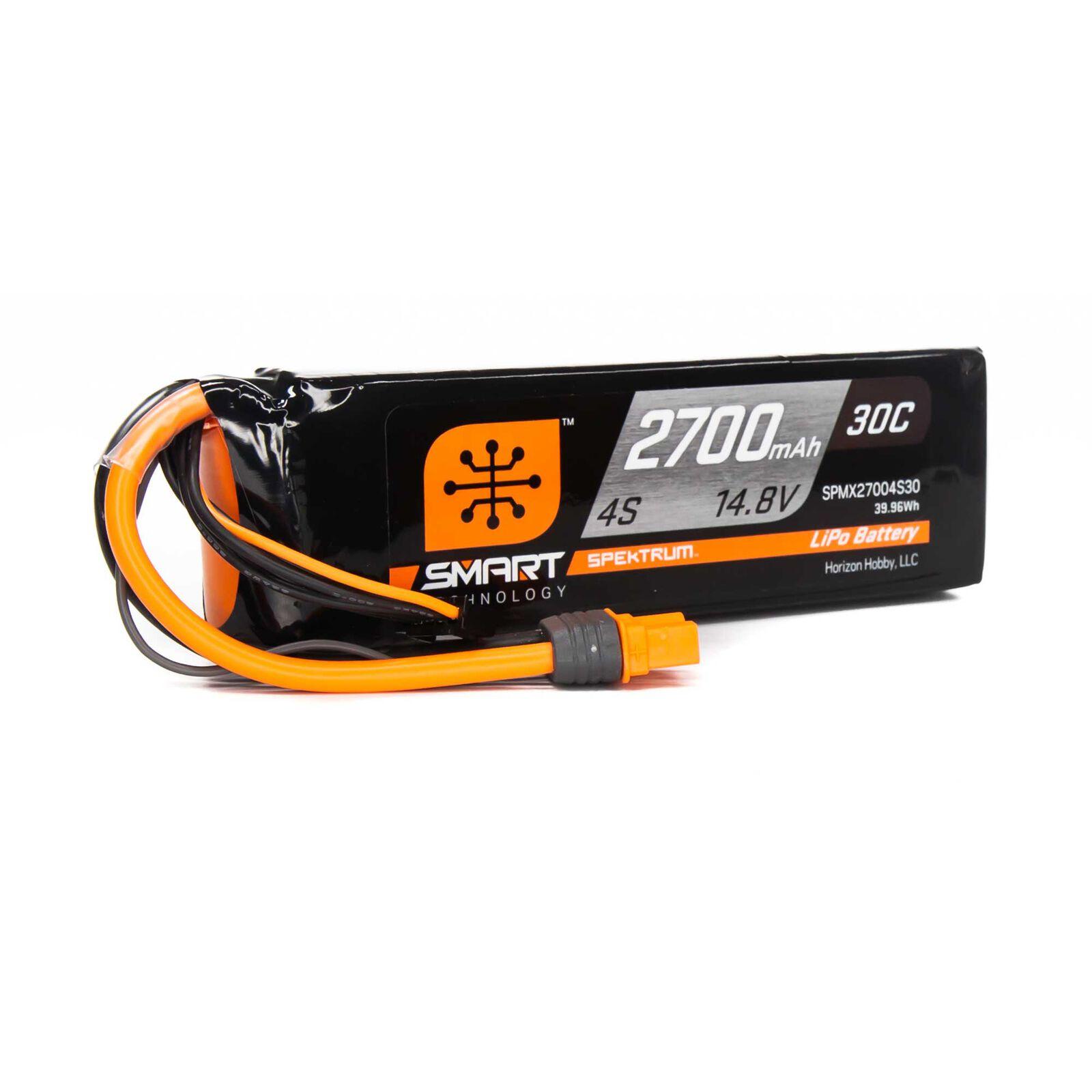14.8V 2700mAh 4S 30C Smart LiPo Battery: IC3