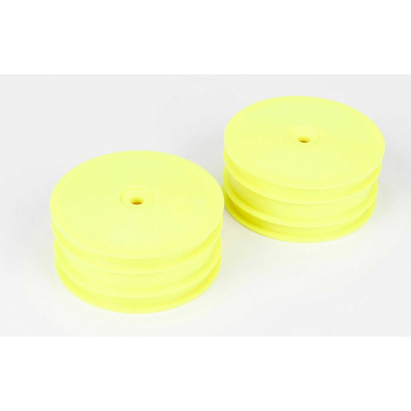 1/10 Front Buggy 2.2 Wheels, 12mm Hex, Yellow (2): 22-4