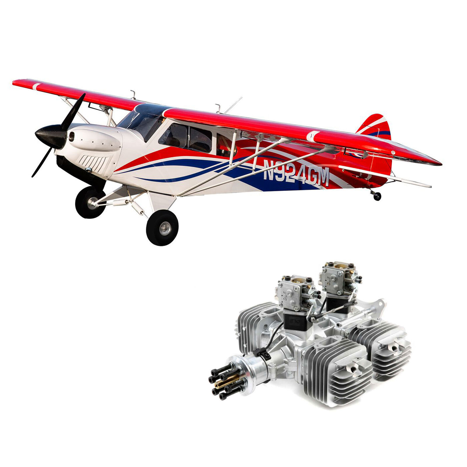 "CubCrafters Cub FX-3 100-200cc 165"" w  DLE222 222cc"