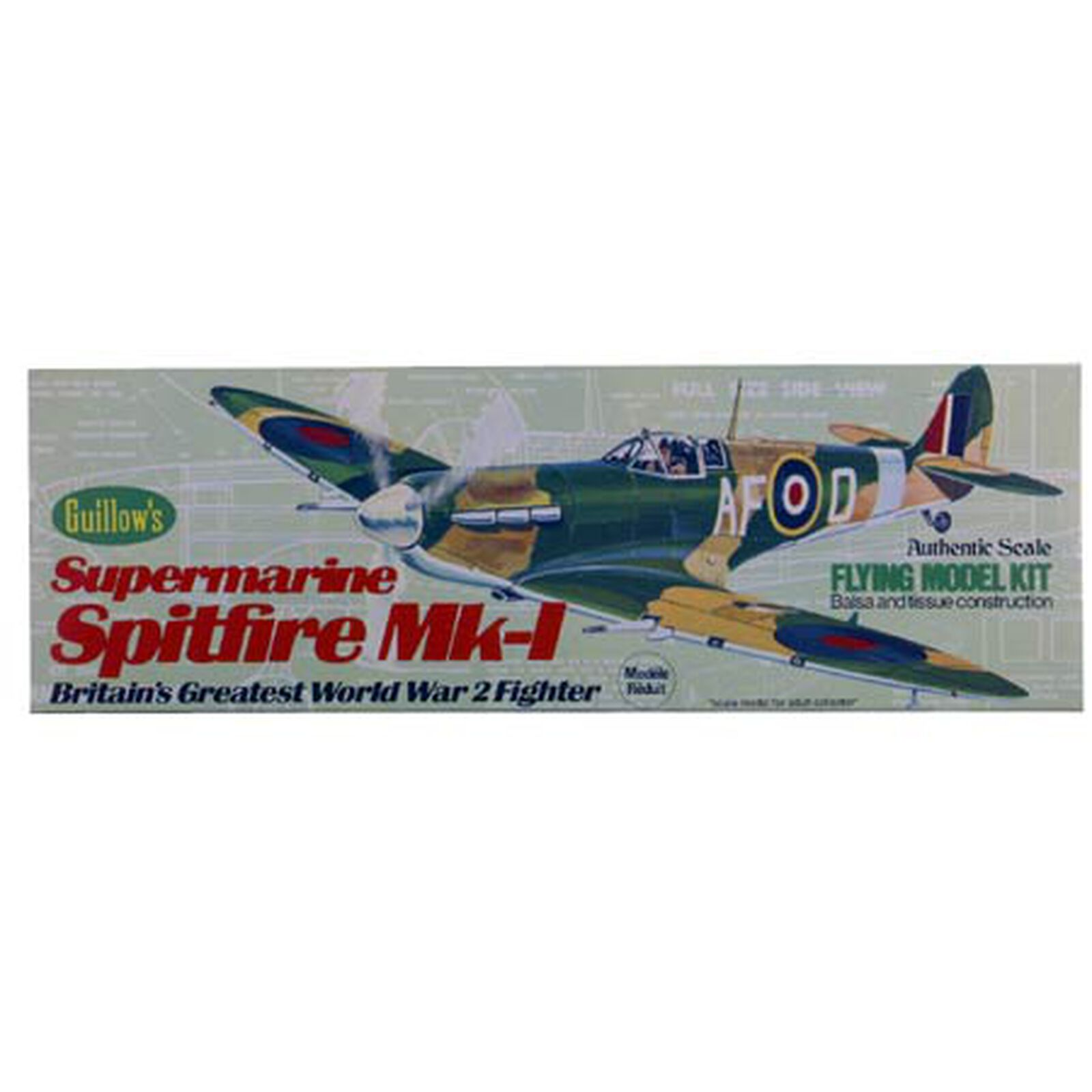 "Supermarine Spitfire MK-1 Kit, 16.5"""