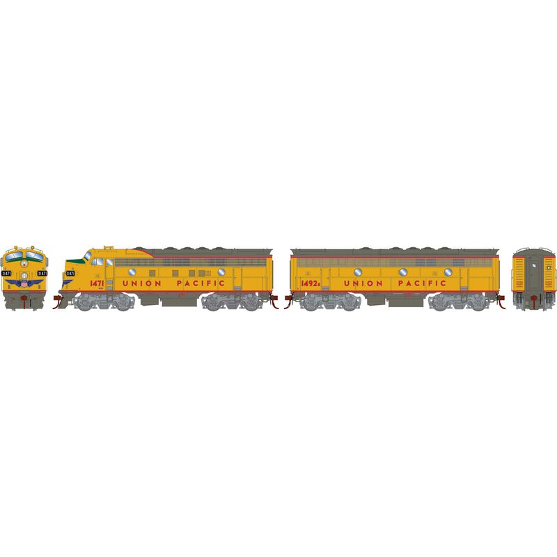 HO F7A F7B with DCC & Sound UP Freight #1471 #1492B