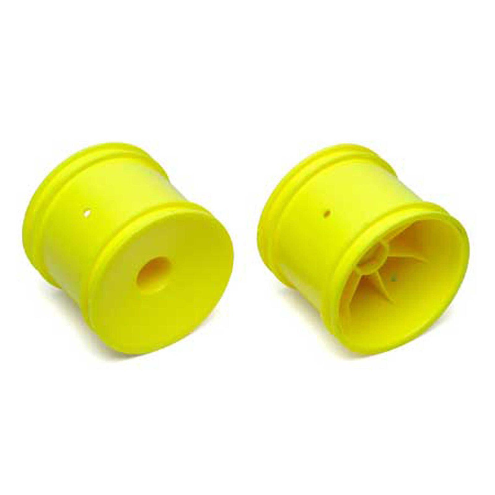 1/10 Truck Rear Wheels, 12mm Hex, Yellow (2)