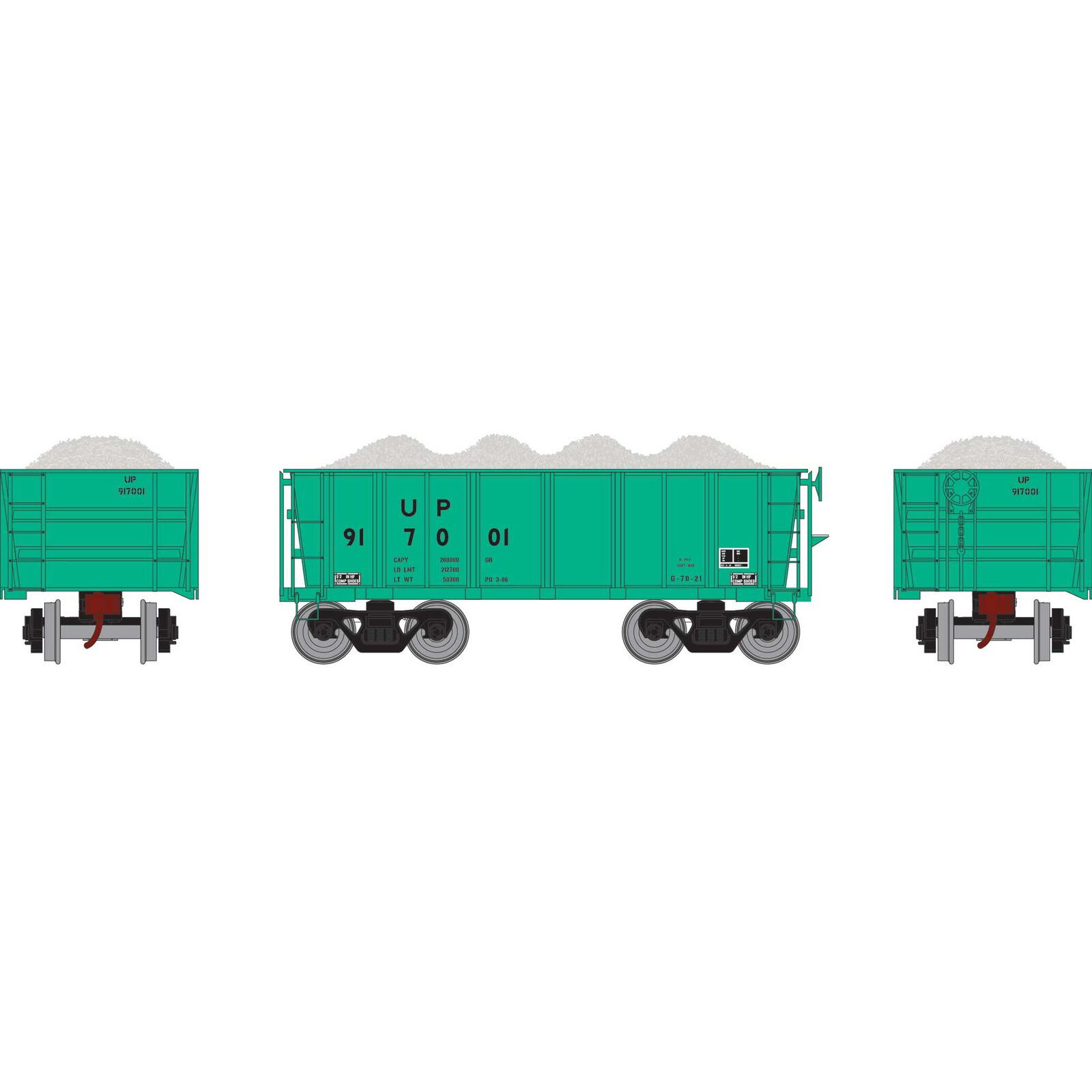 HO RTR 26' Ore Car Low Side with Load, UP/MOW #917001