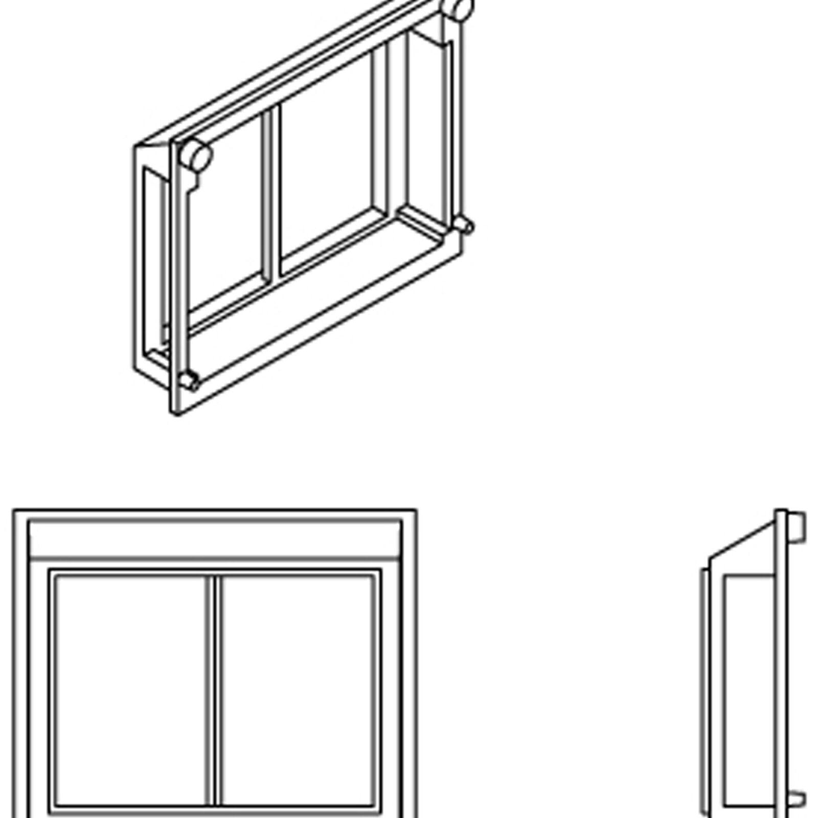 HO All-Weather Window Set, 2 Pane/Steep/Angle (6)