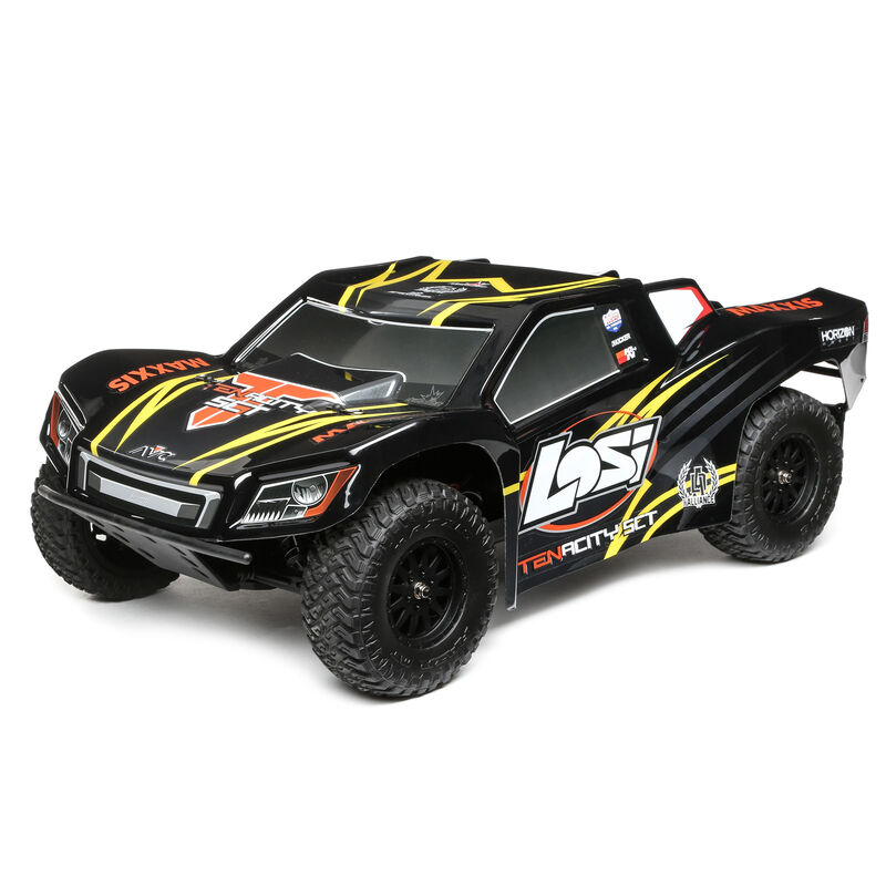 1/10 TENACITY 4WD SCT Brushless RTR with AVC, Black/Yellow