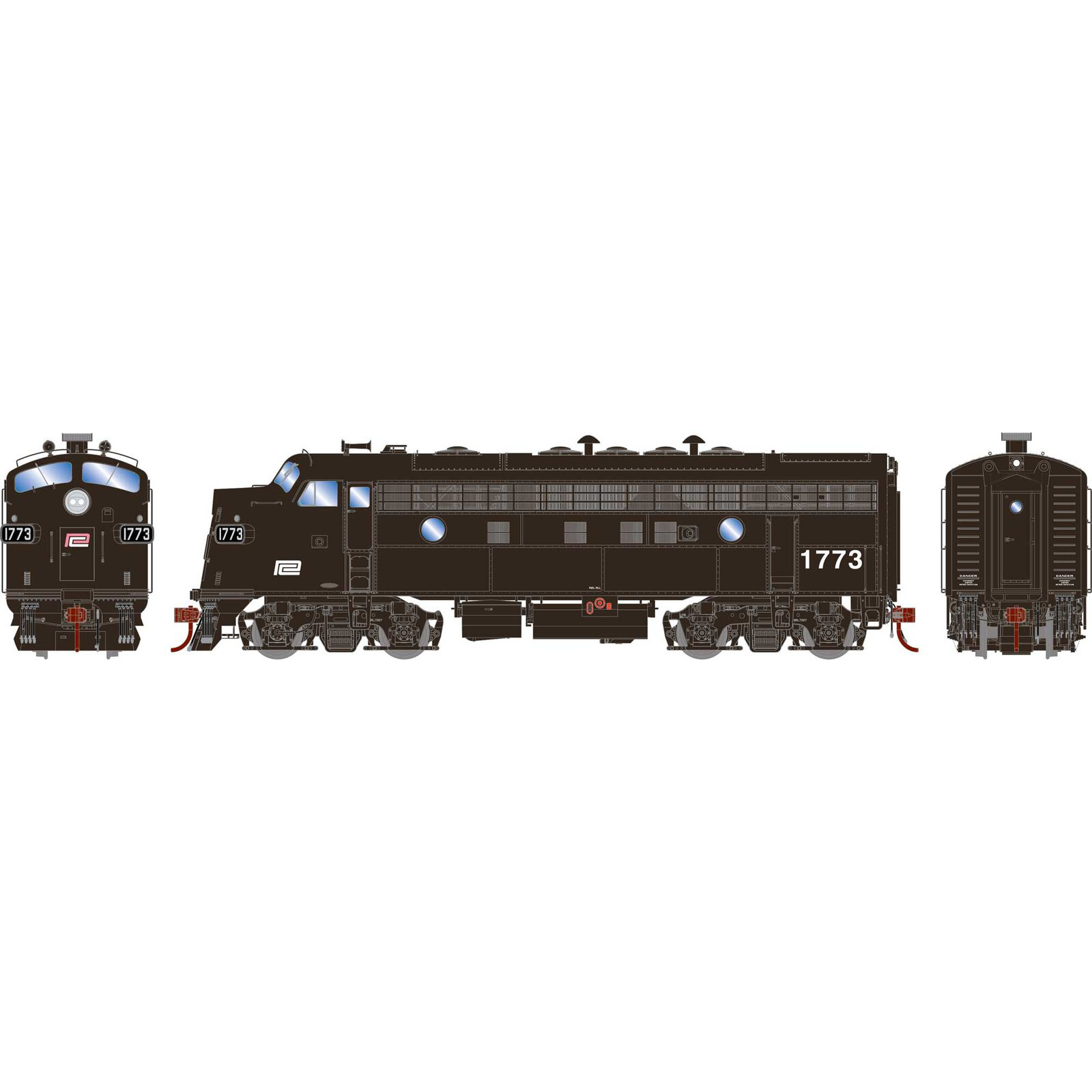 HO F7A PC Freight #1773