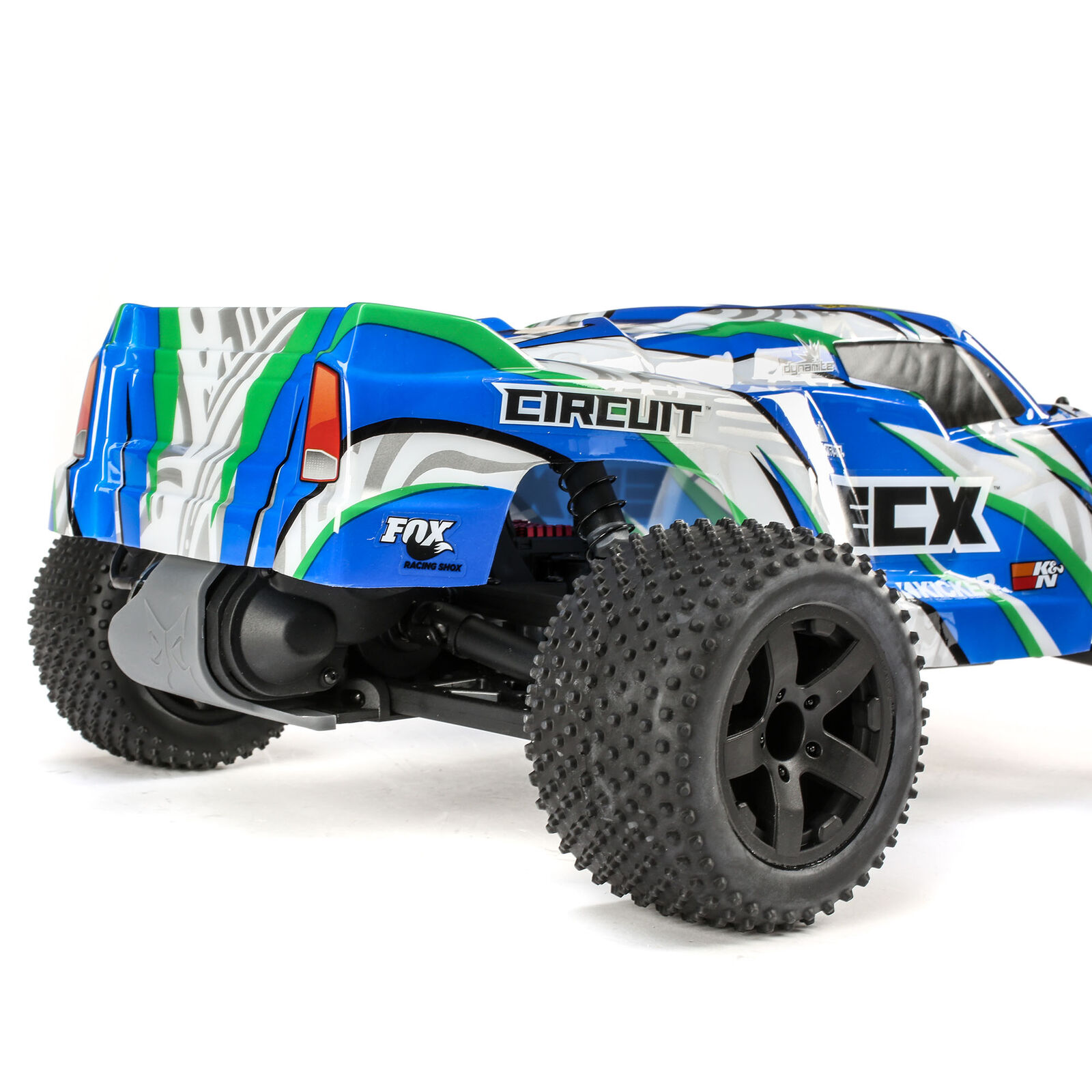 1/10 Circuit 2WD Stadium Truck Brushed RTR, Blue/White