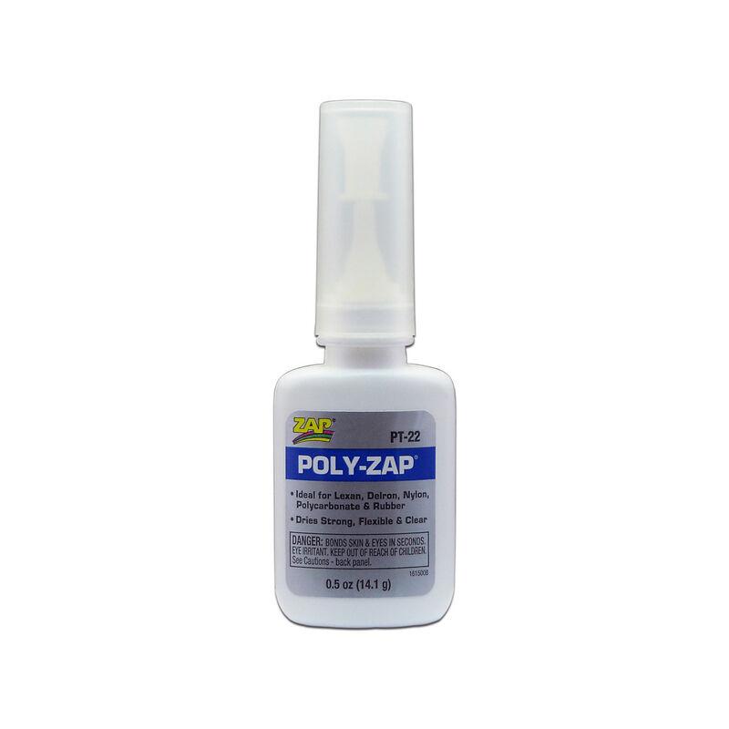 Poly-Zap Glue, 1/2 oz