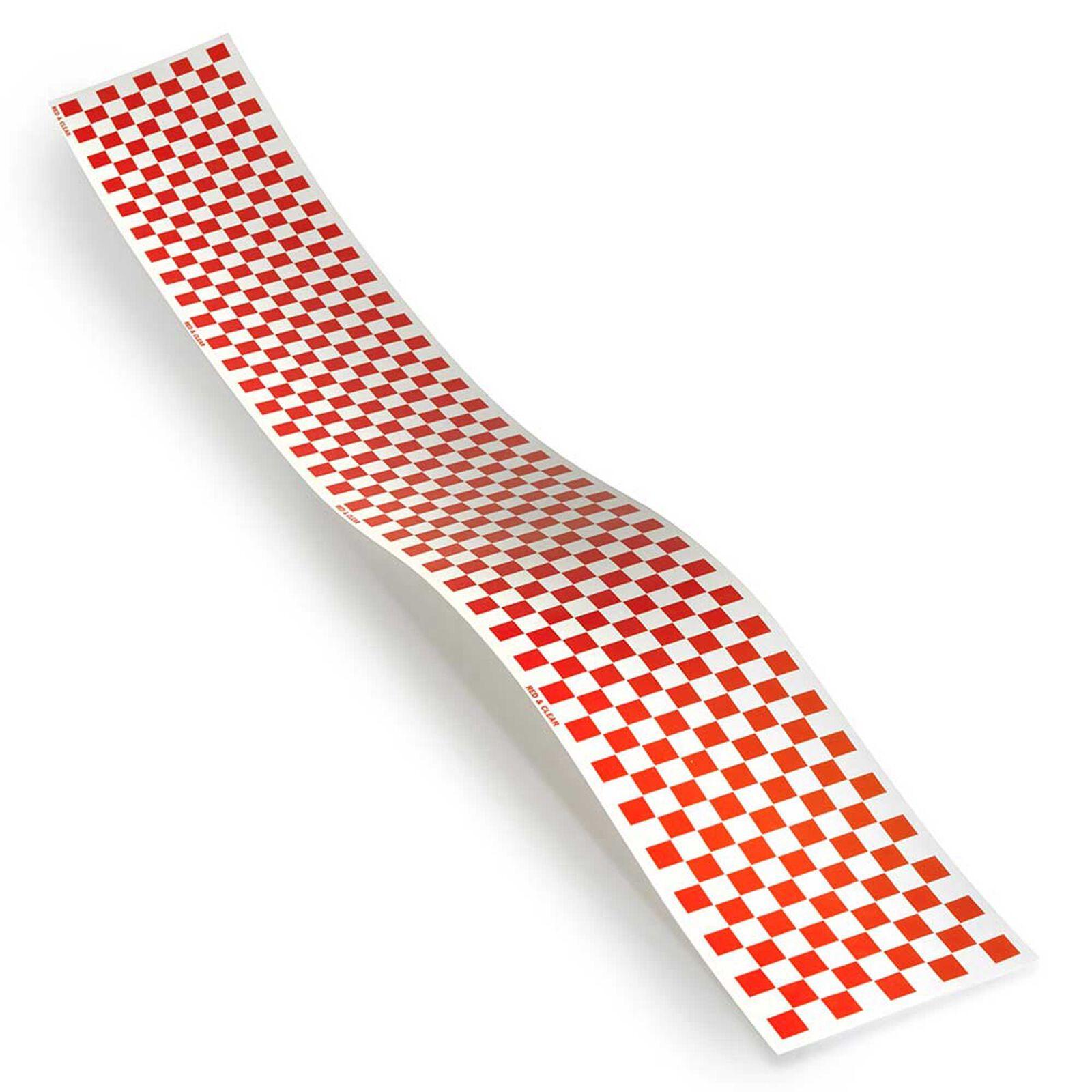Trim MonoKote, Red/Clear Checkerboard