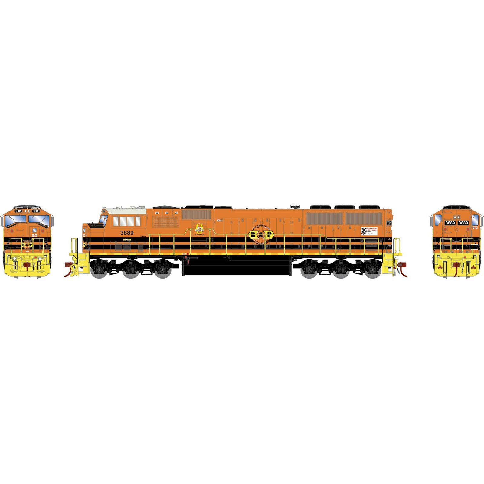 HO SD60M, B&P/Orange/Yellow #3889