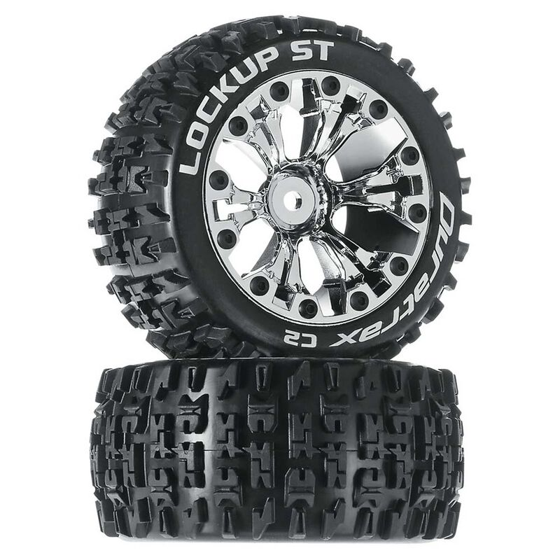 "Lockup ST 2.8"" 2WD Mounted Rear Tires, Chrome (2)"