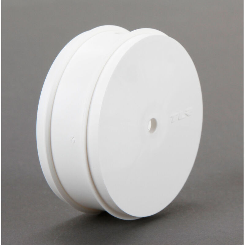 1/10 Front Buggy 61mm Wheels, 12mm Hex, White (2): 22 3.0