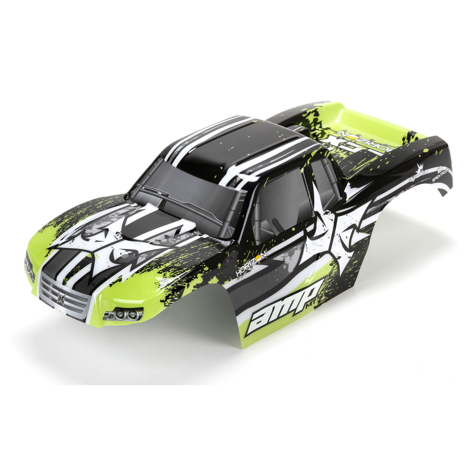 Body, Painted, Black/Green: 1/10 AMP MT