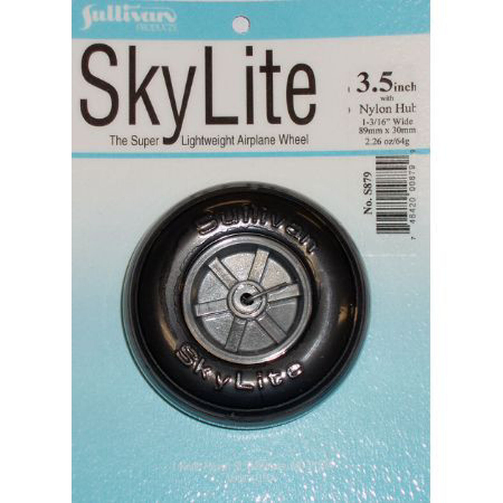 """Skylite Wheel with Tread, 3-1/2"""" (1 wheel and tire included)"""