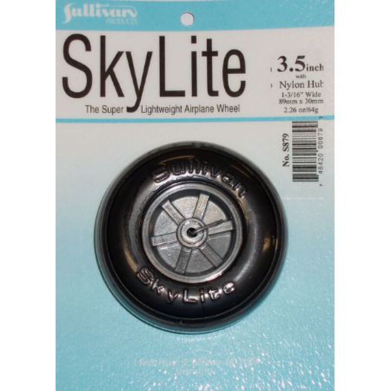 "Skylite Wheel w/Tread,3-1/2"" (1 wheel and tire included)"