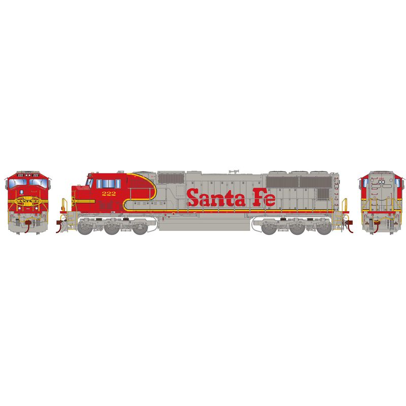 HO SD75M with DCC & Sound SF Warbonnet #222
