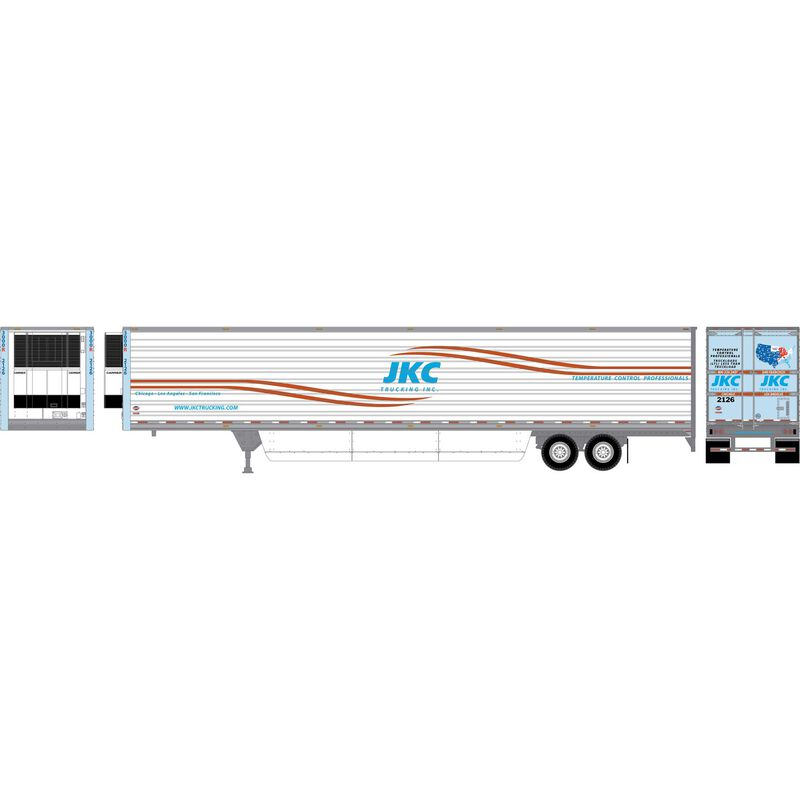 HO RTR 53' Utility Reefer Trailer JKC Trucking#2126