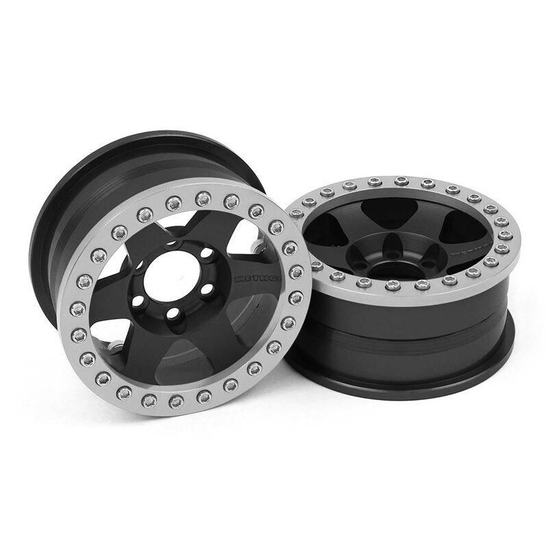 1/10 Method 310 1.9 Race Crawler Wheels, 12mm Hex, Black Anodized (2)