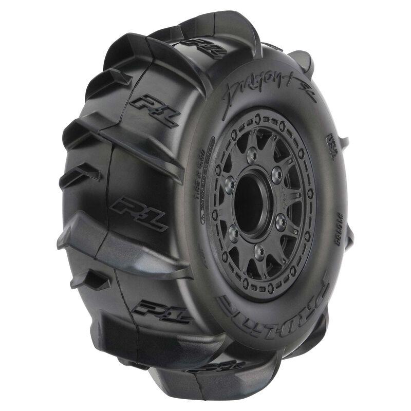 "Dumont Paddle SC 2.2""/3.0""  Mounted Front/Rear Raid Tires, Black (2)"