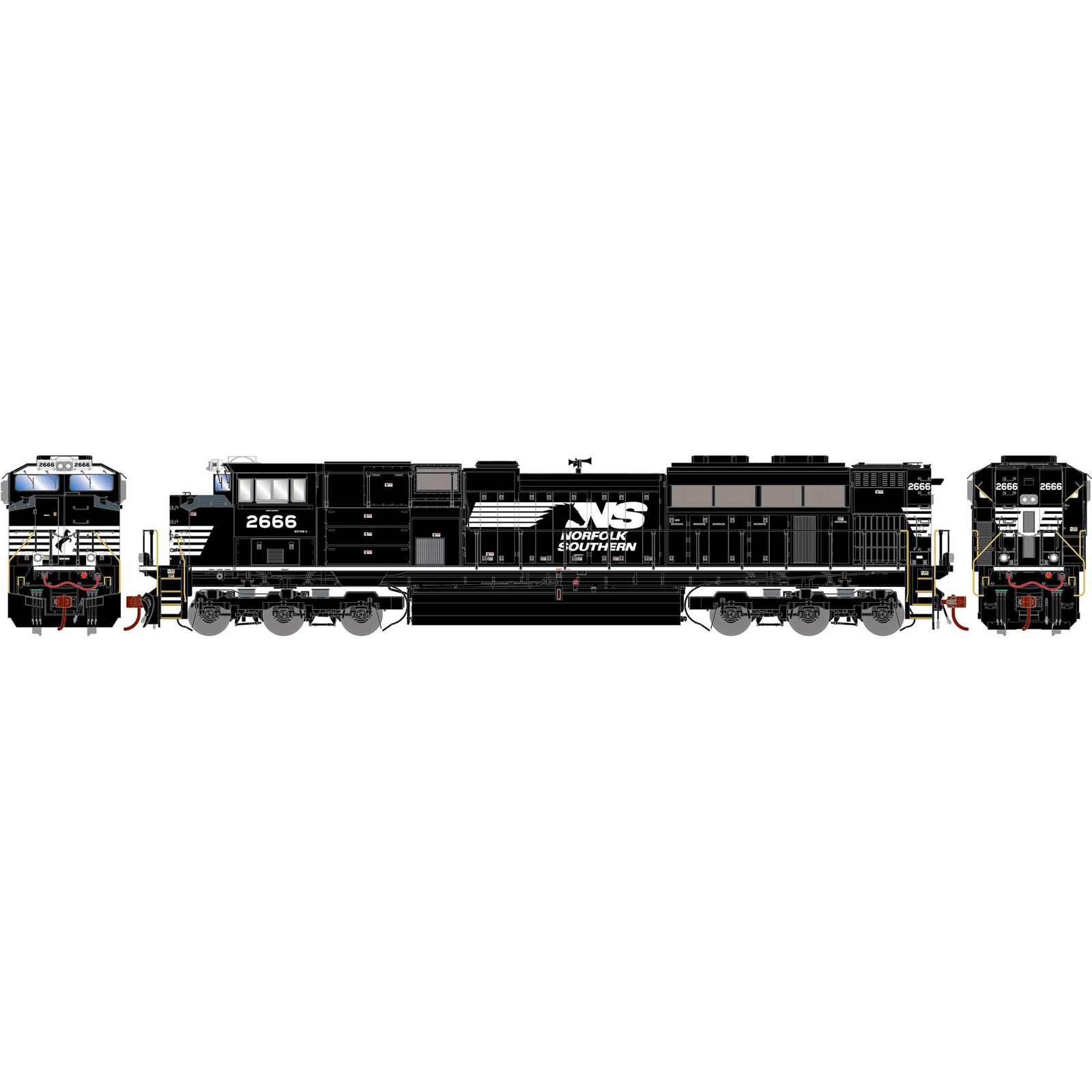 HO G2 SD70M-2 with DCC & Sound, NS #2666