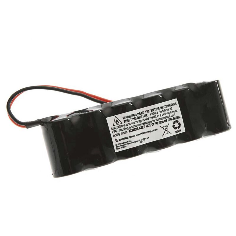 7.2V 1300mAh 6-Cell 2/3A Flat NiMH Battery: XH-1S (Losi Mini Plug)