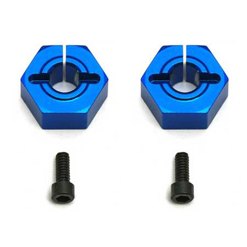 Factory Team 12mm Aluminum Clamping Wheel Hexes SC10 Front