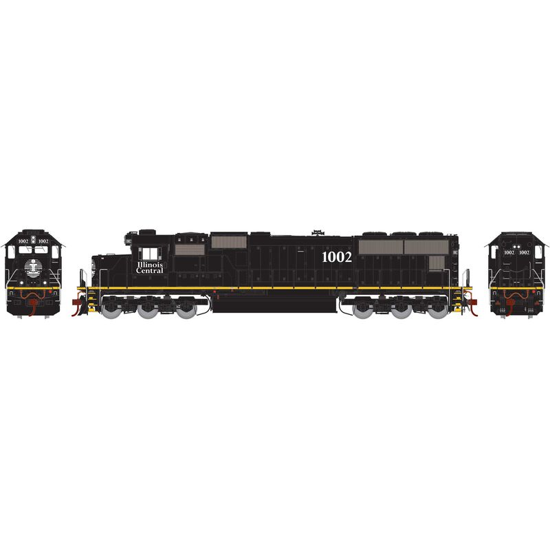 HO SD70 with DCC & Sound, IC/Yellow Stripe #1002