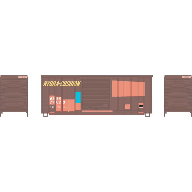 HO 40' High Cube Outside Braced Box, AZER #77023