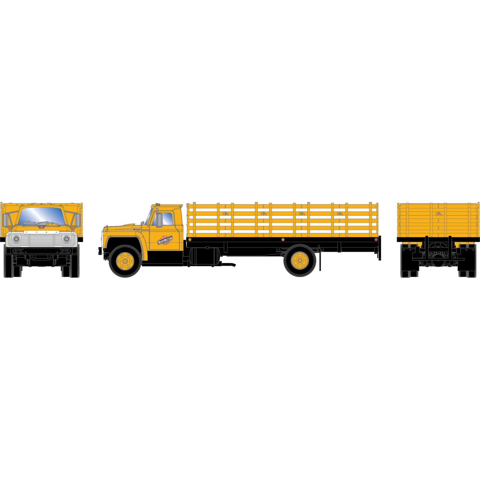 HO RTR Ford F-850 Stakebed Truck, C&NW