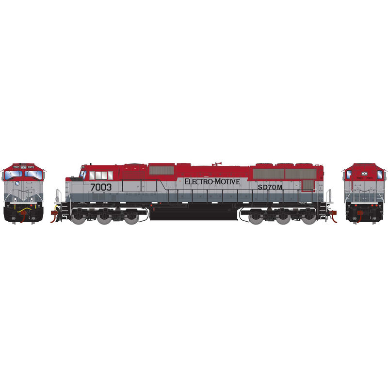 HO SD70M with DCC & Sound EMDX Maroon Silver #7003