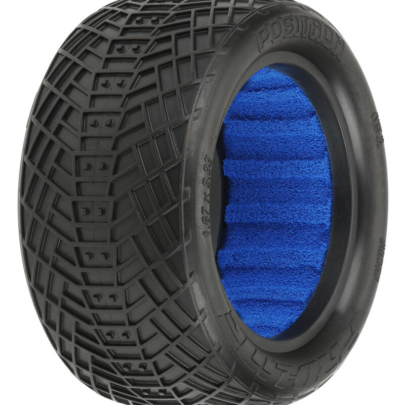 1/10 Positron 2.2 4WD Off-Road Buggy Rear Tires with Closed Cell Foam Inserts, M4 - Super Soft (2)