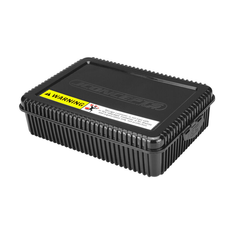 Shorty Battery Storage Box with Foam Liner, Black