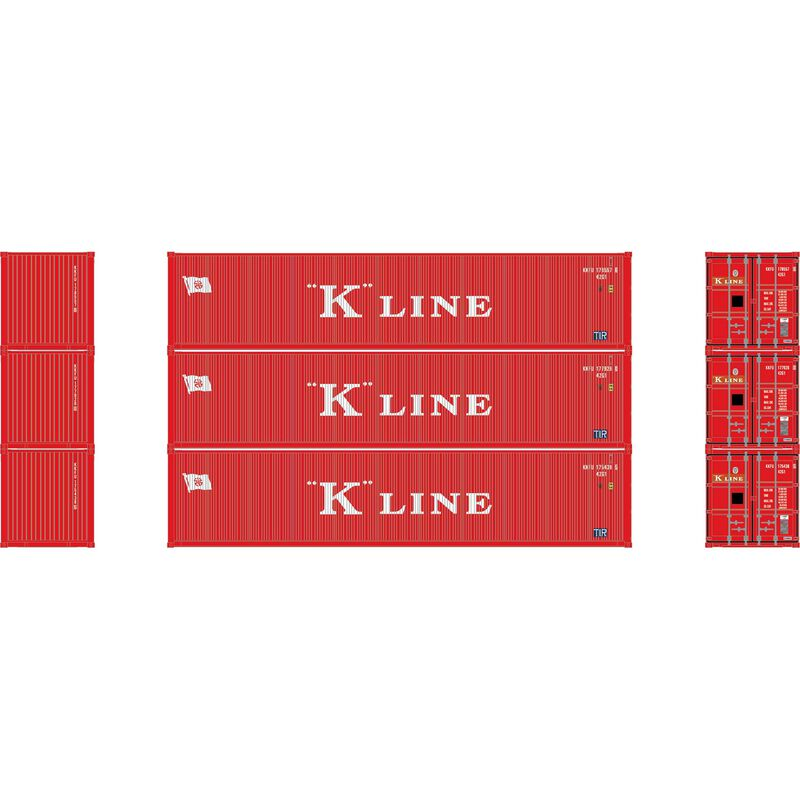 N 40' Corrugated Low-Cube Container, K Line #2 (3)