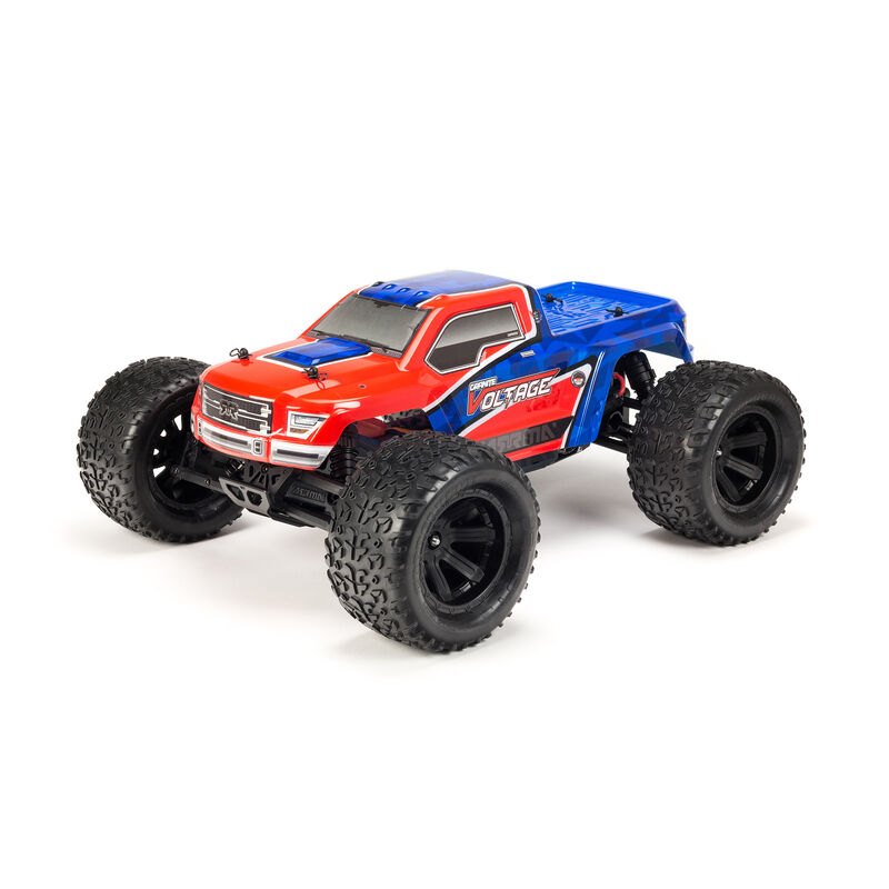 1/10 GRANITE VOLTAGE  2WD Brushed Mega Monster Truck RTR, Red/Blue