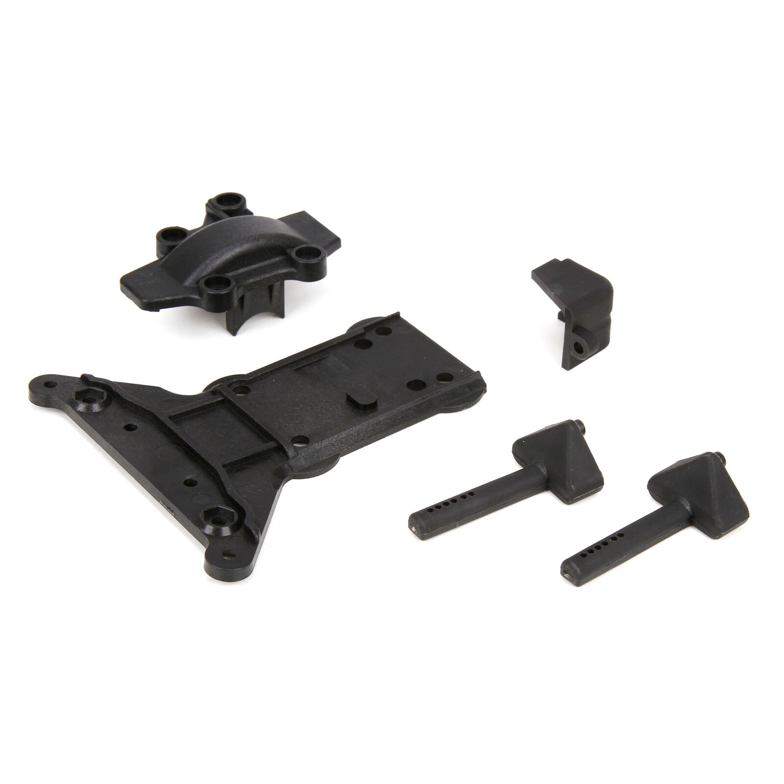 Gear Cover/Kick Plate/Battery Mounts: 1/10 4WD All
