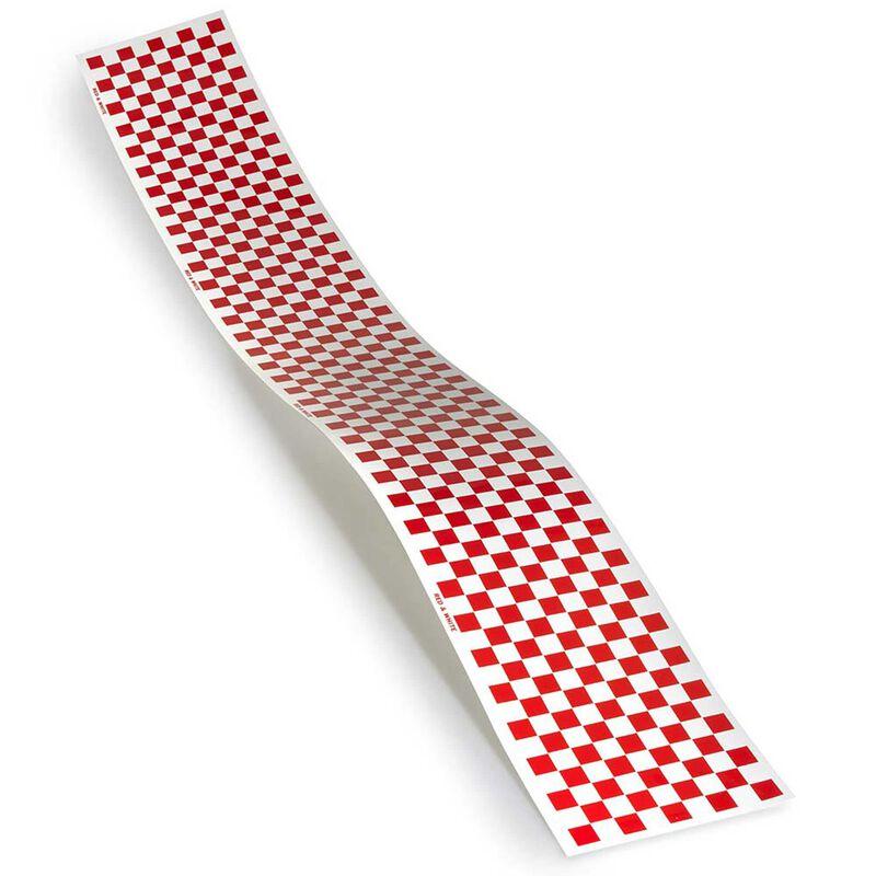 Trim MonoKote, Red/White Checkerboard