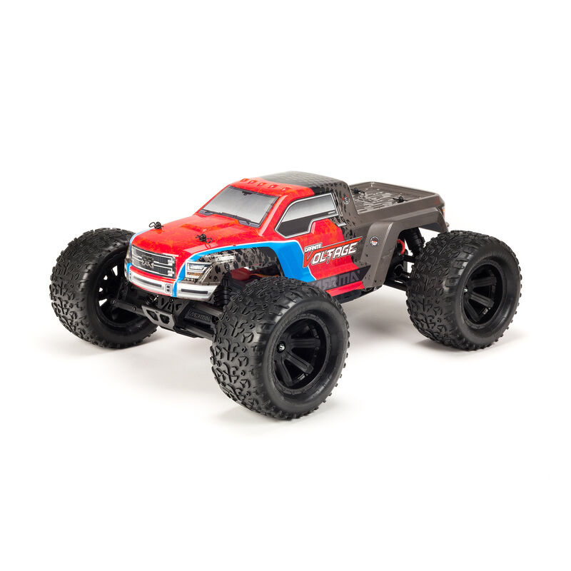 1/10 GRANITE VOLTAGE  2WD Brushed Mega Monster Truck RTR, Red/Black