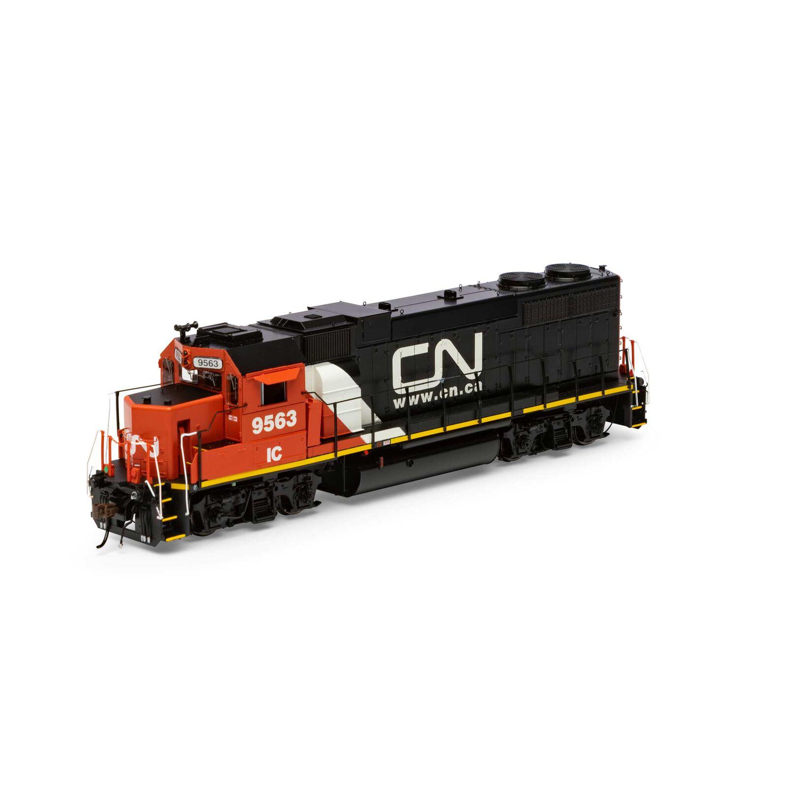 HO GP38-2 with DCC & Sound CN IC Website Logo #9563