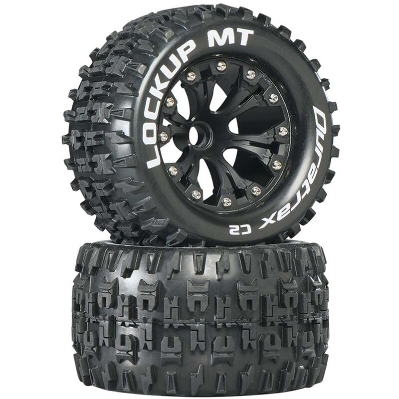 """Lockup MT 2.8"""" 2WD Mounted Front C2 Tires, Black (2)"""