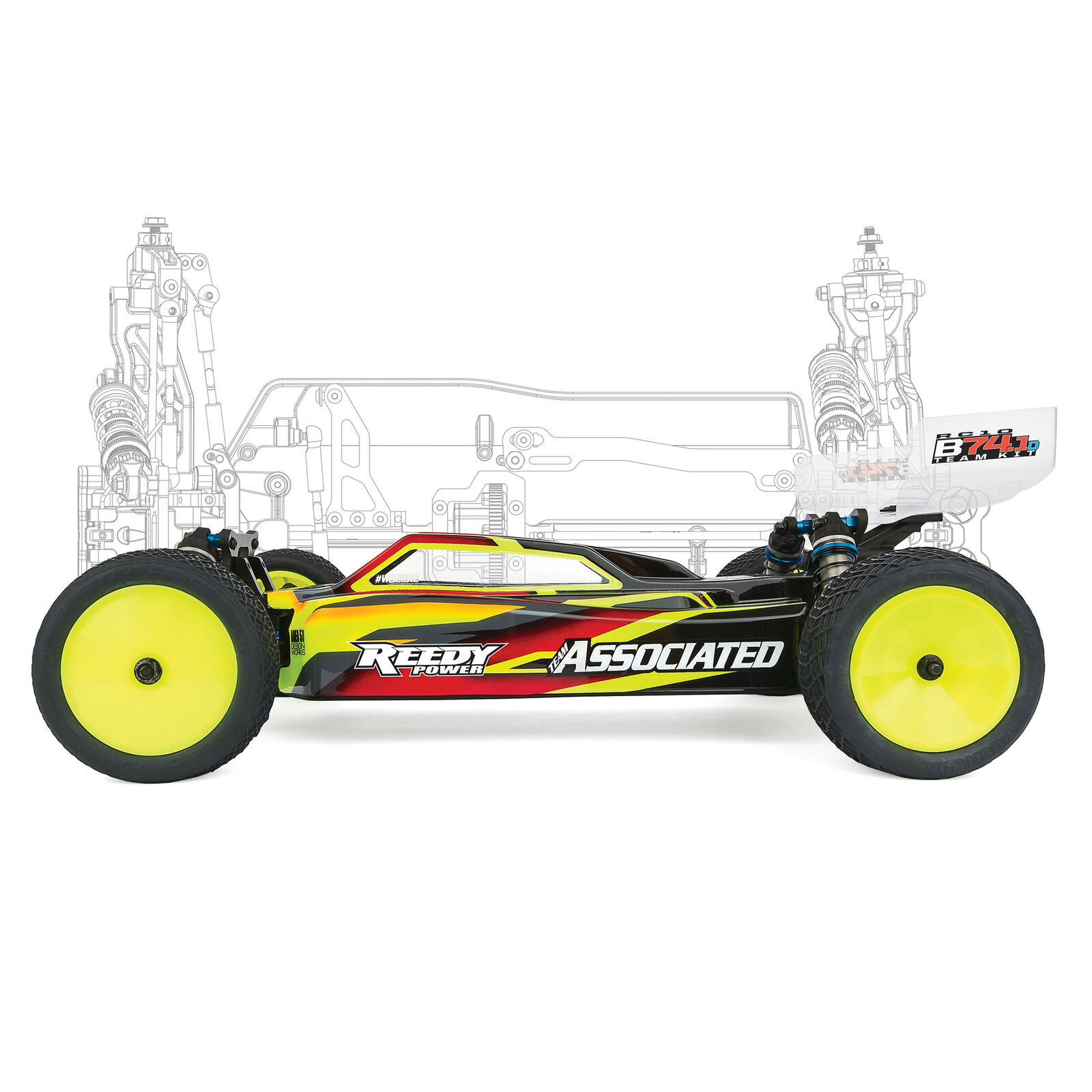 1/10 RC10B74.1D Buggy Team Kit