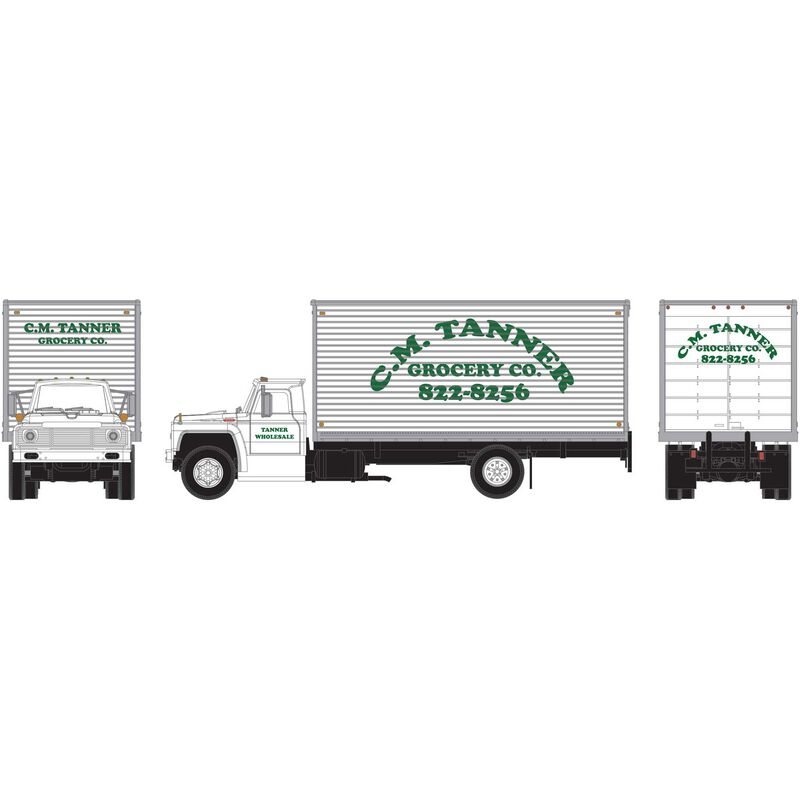 HO RTR Ford F-850 Box Van C.M. Tanner Grocery Co.
