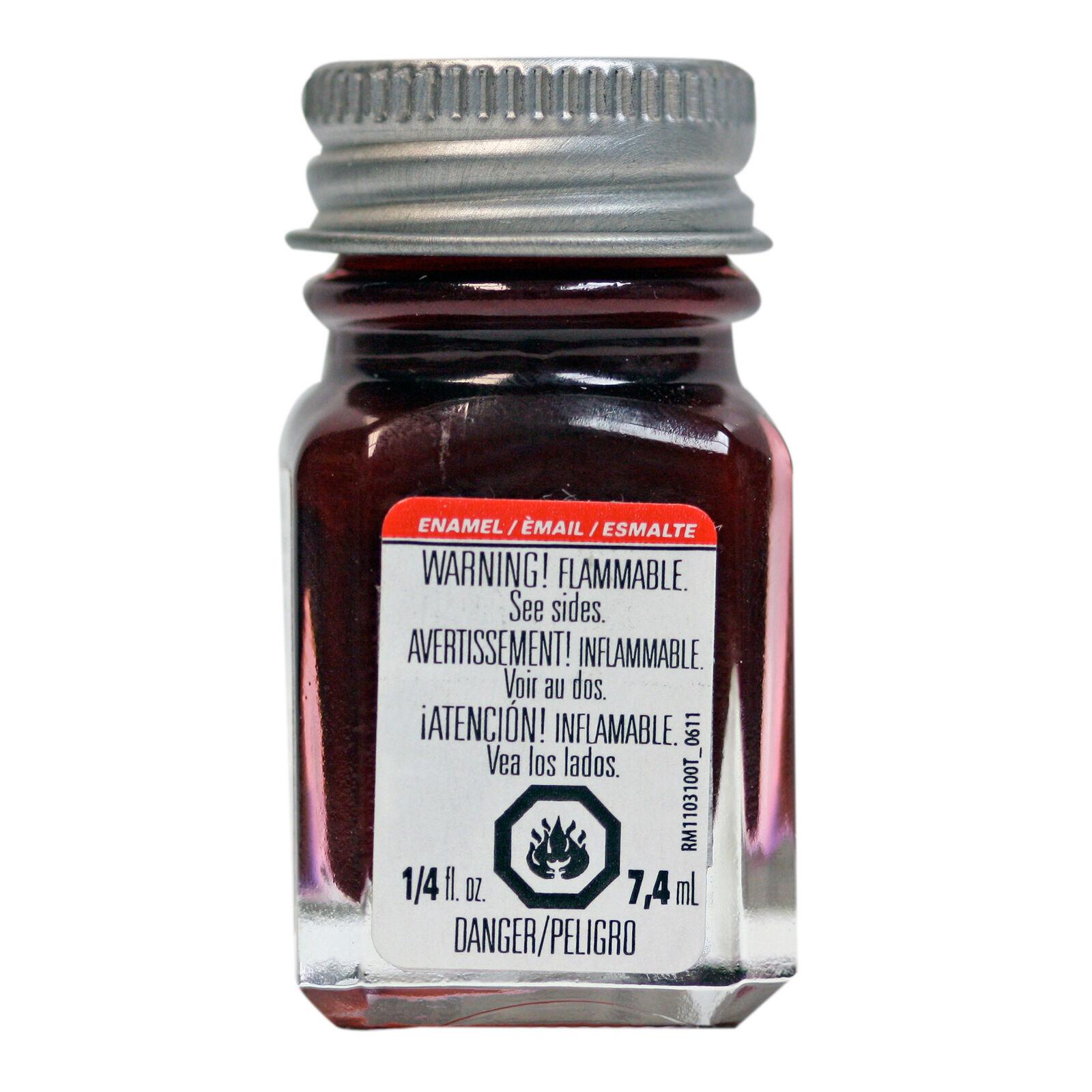 Enamel 1/4 oz Metal Flake Red