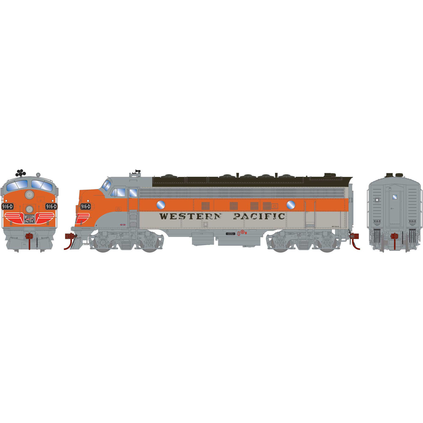 HO FP7A with DCC & Sound WP #916-D