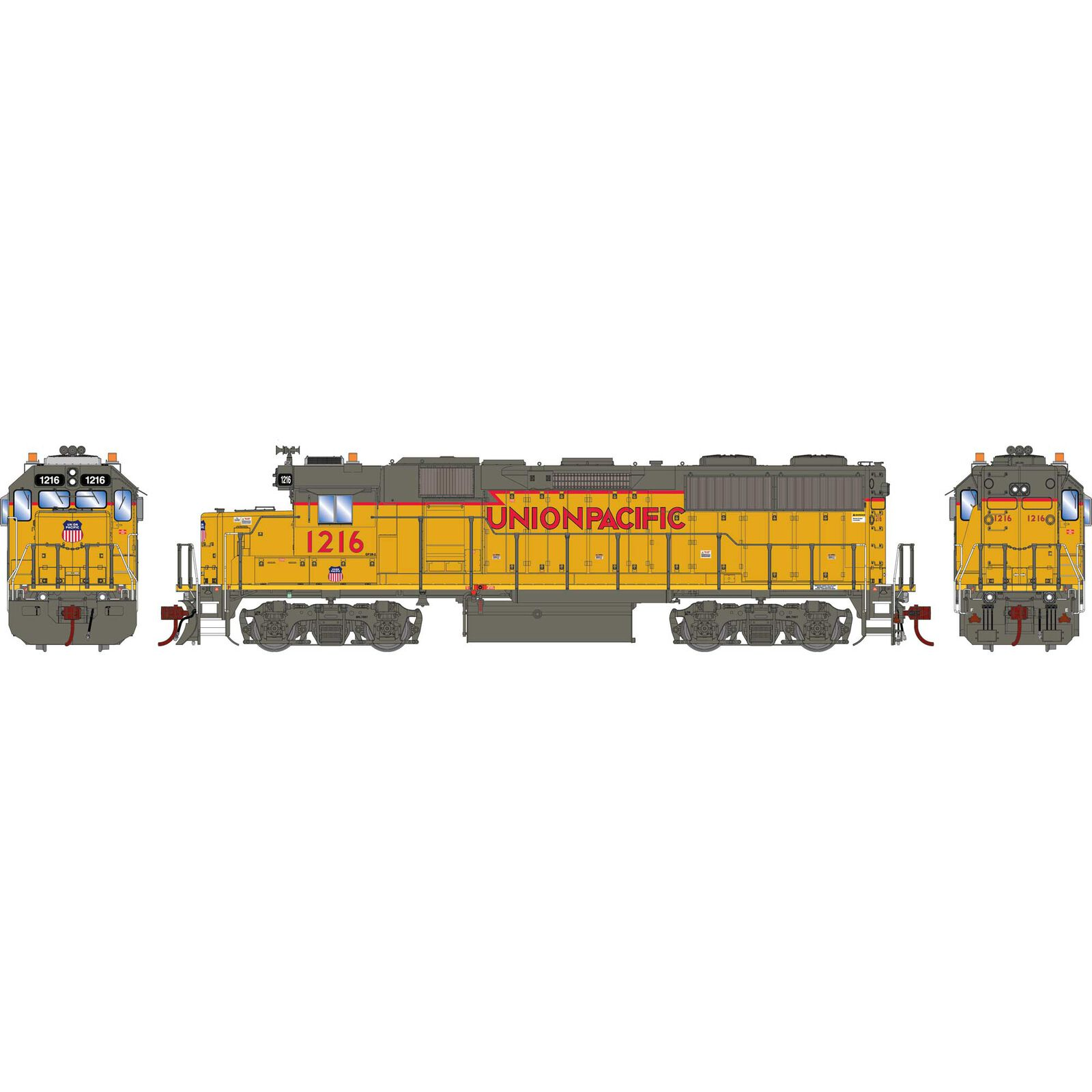 HO GP39-2 with DCC & Sound UP #1216