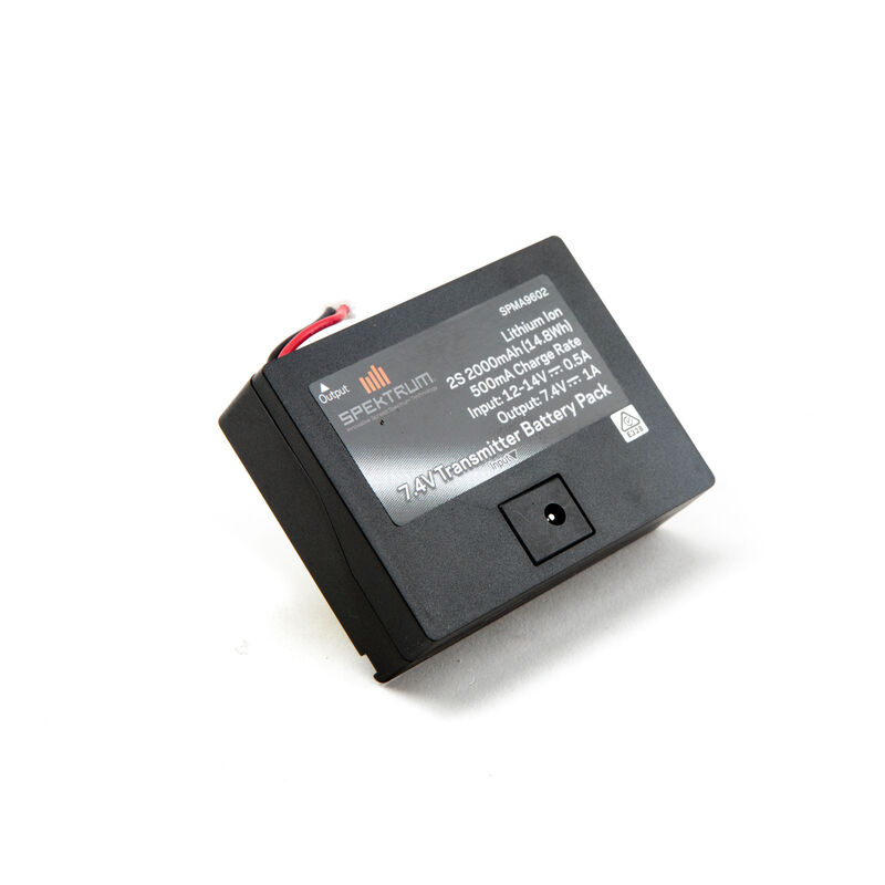 7.4V 2000mAh 2S Li-Ion Transmitter Battery: TX Plug