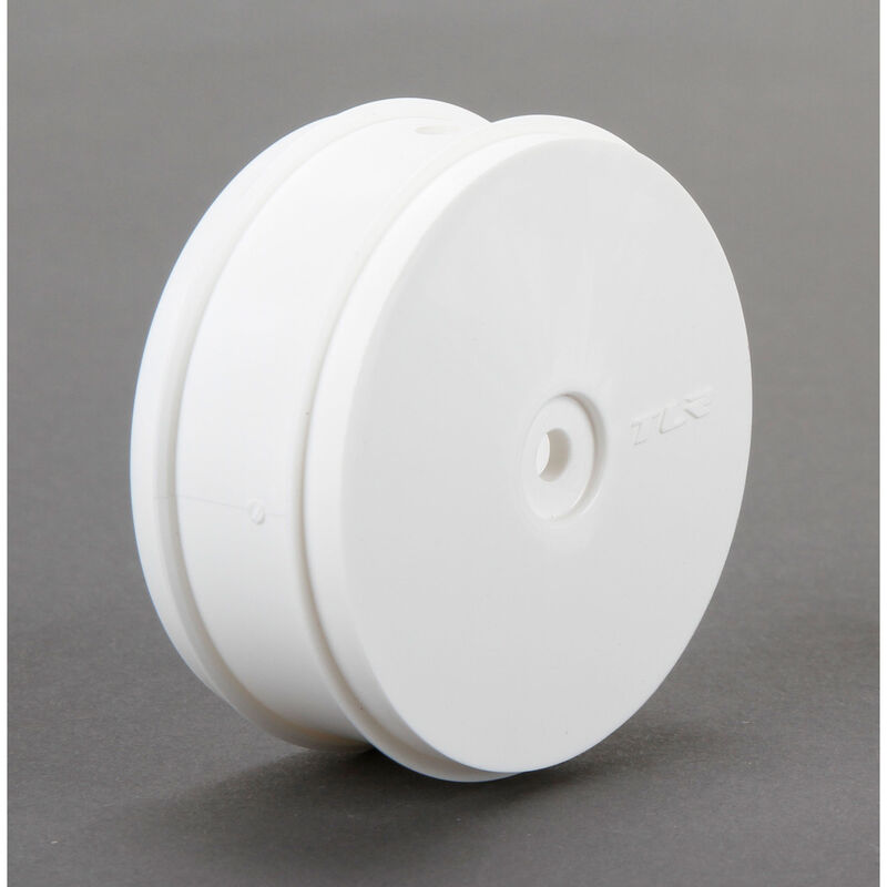 1/10 Front Buggy 61mm Wheels, 12mm Hex, White (2): 22-4