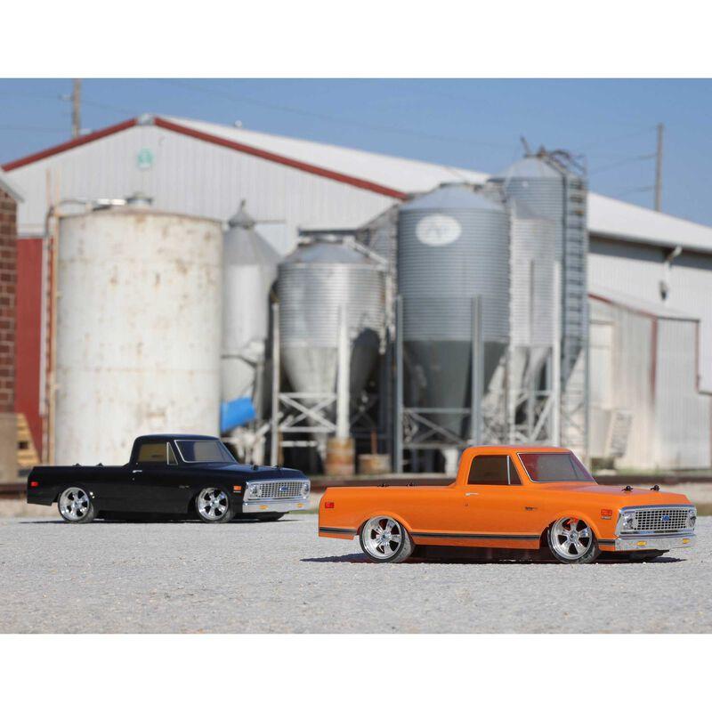 1/10 1972 Chevy C10 픽업 트럭 V100 AWD RTR, 주황색