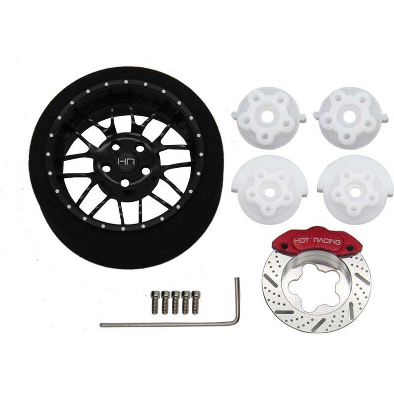 Black 8 Double Spoke Aluminum Steering Transmitter Wheel